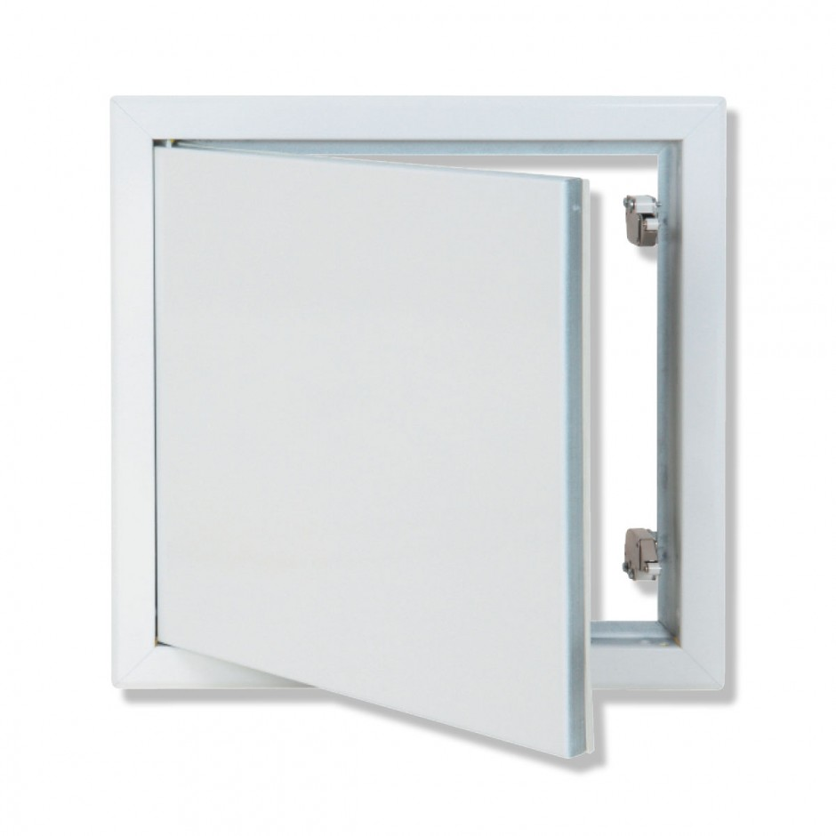 HQ METAL ACCESS PANEL WITH WHITE LACQUERED FINISH AND PUSH/RELEASE OPENING